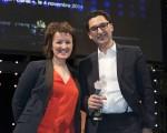 Anne Roumanoff et Maxime Saada - Les Lauriers de l'Audiovisuel 2015